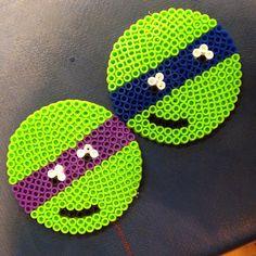 TMNT coasters perler beads by jessssreid