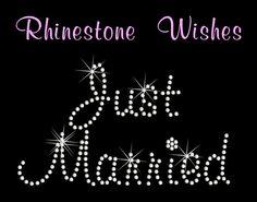 Bride in Aquarelle Font Large Rhinestone by RhinestoneWishes