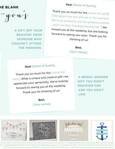 Thank-You Notes | WeddingWire SUMMERBOOK 2014