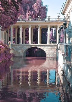 Bridge at Lazienki Palace in Warsaw, Poland Beautiful World, Beautiful Places, Beautiful Beautiful, Palace Garden, Beautiful Architecture, Ancient Greek Architecture, Baroque Architecture, Historical Architecture, Aesthetic Pictures