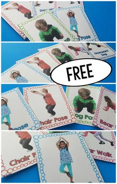 kids yoga cards free printable / printable yoga cards for kids free ; yoga poses for kids printable cards free ; free printable yoga pose cards for kids ; free printable animal yoga cards for kids Physical Therapy Exercises, Pediatric Physical Therapy, Physical Education Games, Occupational Therapy, Physical Activities, Speech Therapy, Health Education, Toddler Yoga, Baby Yoga
