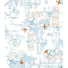 "Found it at Wayfair.ca - Walt Disney Kids II Blueprint Planes 33' x 20.5"" Wallpaper"