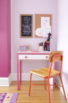 Contrasting purples in Wallflower SW 6281 and Ruby Shade SW 6572 make this nook one of the happiest spots in the house.
