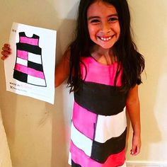 Color block brilliance! Unique designer wearing her imagination out loud! ❤🦄😊🌟🤗  #picturethisclothing #picturethis #creativekids #kidfashion #kidart #wearyourimagination #color #art #fashion #bestgiftever