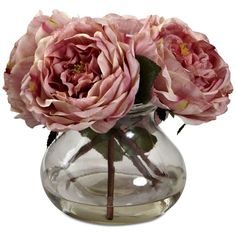 Nearly Natural Fancy Pink Rose Arrangement with Vase (570 ZAR) ❤ liked on Polyvore featuring home, home decor, floral decor, pink, artificial flower arrangement, pink home decor, rose flower arrangement, nearly natural and pink home accessories