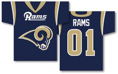 """NFL St. Louis Rams Jersey Banner 34"""""""" x 30"""""""" - 2-Sided"""