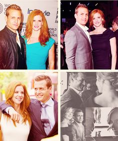 """First off, Sarah Rafferty and I go back twenty years. Our daughters are best friends, we're close friends. It's a very hard act with one of your best pals. We constantly tell each other: 'Don't make me laugh! Don't make me laugh! Stop!'"" #suits"