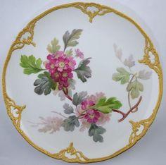 Antique KPM Botanical Porcelain Plate