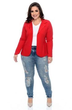 Blazer Plus Size Aida Blazer Outfits Casual, Blazer Outfits For Women, Casual Outfits For Moms, Curvy Girl Outfits, Business Casual Outfits, Casual Winter Outfits, Blazer Plus Size, Plus Size Jeans, Plus Size Fall Outfit