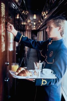 """""""Your breakfast, Madamoiselle"""" on the Orient Express! www.kerlagons.com"""