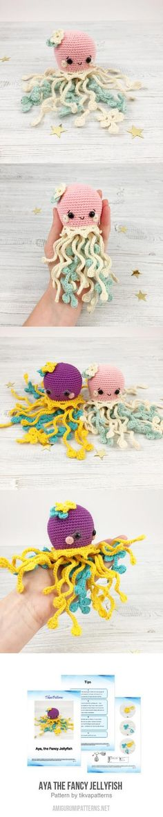 Aya the Fancy Jellyfish  amigurumi pattern