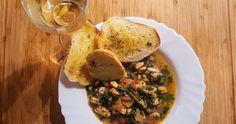 Scoici in Sos de Vin cu Usturoi Hummus, Ethnic Recipes, Food, Essen, Meals, Yemek, Eten
