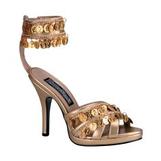 Gold High Heel Gypsy Shoes