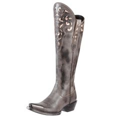 The epitome of western lifestyle has arrived with the Hacienda from the New West Collection. With svelte styling and intricate underlay design detail, this full-grain leather boot is for women who appreciate originality and authenticity. ATS footbed puts comfort in motion in this high-fashion western boot.