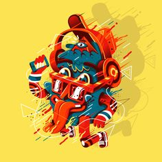 Characters by New Fren, via Behance