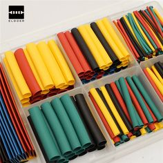 New Arrival 328Pcs 8 Sizes Polyolefin Assorted 2:1 Heat Shrink Tubing Tube Wrap Sleeve Wire Kit w/Box 5Colors 8 Size #Affiliate