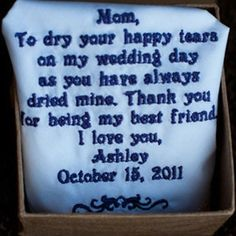 """Don't care for the saying but I could embroider some with """"mother of the bride"""", etc"""