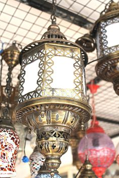REDUCED Hanging Lantern mosaichanging by BeautyofTurkey on Etsy