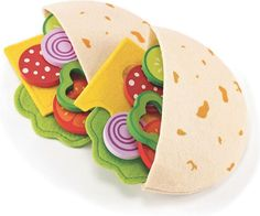 Gift Guide, Ages 3 to 5: Petit Green has several play meal options, but these earn high marks thanks to their nifty fabric pita pockets and nutritious filling options. #holiday #gifts