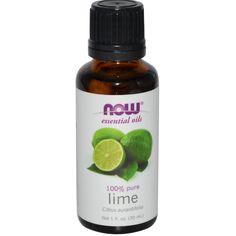 3,35 Now Foods, Aceites Esenciales, Lima, 1 fl oz (30 ml) - iHerb.com