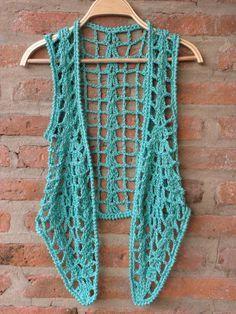 Rustic Handmade Crochet vest - In La Plata Crochet Waistcoat, Crochet Cardigan, Crochet Shawl, Crochet Yarn, Crochet Stitches, Crochet Top, Stitch Crochet, Crochet Shrug Pattern, Crochet Patterns