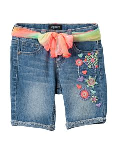 Shop today for Squeeze Floral Embroidered Bermuda Shorts – Girls 2-6X &…