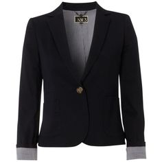 NW3 Maple Blazer, Magpie (220 AUD) ❤ liked on Polyvore featuring outerwear, jackets, blazers, tops, casacos, button blazer, preppy jackets, blazer jacket, button jacket and short jacket