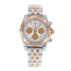 Breitling Mens CB014012G713TT Chronomat 41 Analog Display Swiss Automatic Two Tone Watch *** Visit the image link more details.