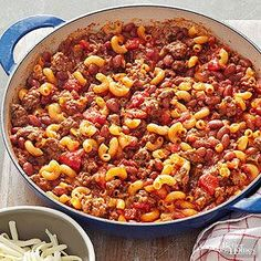 Chili-Pasta Skillet From Better Homes and Gardens, ideas and improvement projects for your home and garden plus recipes and entertaining ideas.