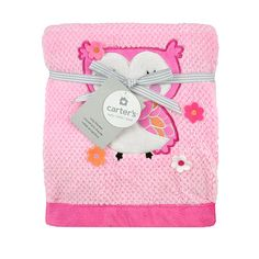 """Carter's Girly Owl Valboa Blanket - Triboro Quilt Co. - Babies """"R"""" Us"""