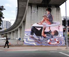 We already talked last year about the talented Australian street artist Fintan Magee, based in Brisbane (The street art of Fintan Magee). I propose you today a