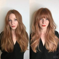 Long Peach Hair With Arched Bangs knallen ästhetisch 20 Best Hairstyles for Big Foreheads to Enhance Your Features Large Forehead Hairstyles, Haircut For Big Forehead, Hairstyles For Large Foreheads, Long Hair With Bangs, Long Hair Cuts, Big Hair, Long Hair Fringe, Edgy Long Hair, How To Cut Bangs