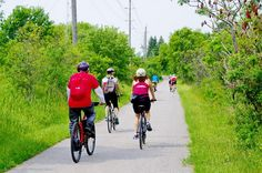 This section of cycling trail takes us from Trent University right into Peterborough