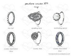 pandora winter 2014 rings (last ring - cosmic stars band blue)