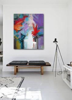 Abstract painting - moderne abstrakt maleri - By Rikke Laursen
