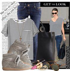 """Miranda Kerr - Street Style"" by karineminzonwilson ❤ liked on Polyvore"