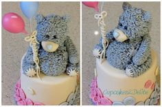 Tatty Teddy Cake for Twins - Cake by Lisa Cunningham