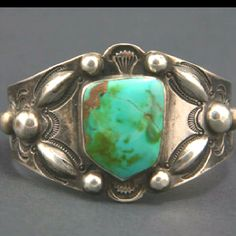 1920's Navajo Turquoise Bracelet