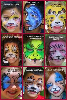 Soccer fans face painting | Picture Perfect | Pinterest