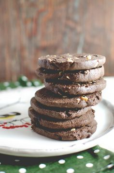 Chocolate Refrigerator Cookies w/ Cherries and Cashews | Sugar and Grace