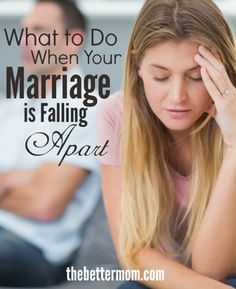 Marriage is hard but it doesn't have to be impossible. Maybe your marriage is going great or maybe like so many others your marriage is a mess. My friend please please please read this...if your marriage is falling apart there is help and hope for you!