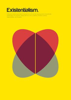 Minimalist posters explain complex philosophical concepts with basic shapes by Genís Carreras.