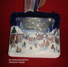 """Δια χειρός...  μεταμορφώσεις"": Christmas time!!!!!!!!! Decoupage Art, Christmas Time, Lunch Box, Cake, Home Decor, Decoration Home, Room Decor, Food Cakes, Cakes"