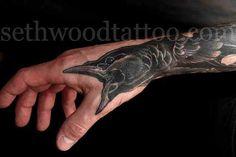 crow+Tattoos   raven tattoo # bird tattoo # raven # crow Clever Tattoos, Funny Tattoos, Creative Tattoos, All Tattoos, Tatoos, Crow Tattoos, Awesome Tattoos, Inspiring Tattoos, Dallas Tattoo