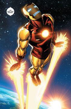"Comics and nothin' but — Superior Iron Man - ""Stark Contrast"". Arte Dc Comics, Marvel Comics Art, Marvel Heroes, Marvel Comic Character, Marvel Characters, Character Art, Alex Ross, Magic The Gathering, Marvel Universe"