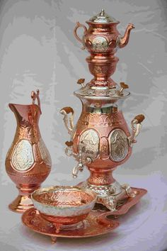 Samovar from Iran _ سماور Samovars made in Persia during the last 100 years or so are based on the Russian style of samovar.