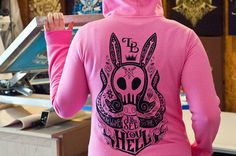 Women's Louise Hoodie  I'll See You In Hell by UnicornEmpirePrints