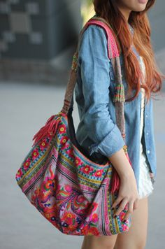 Bohemian Neon Bag.  The colors get me.