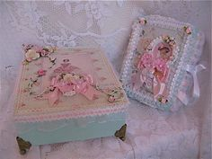 Shabby Chic Box & Mini Album by Martica Designs, via Flickr