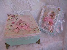 Shabby Chic Box & Mini Album by Martica Designs, via Flickr